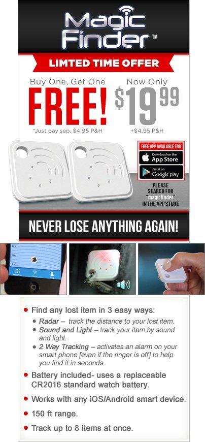 Magic Finder Smart Device Item Tracker