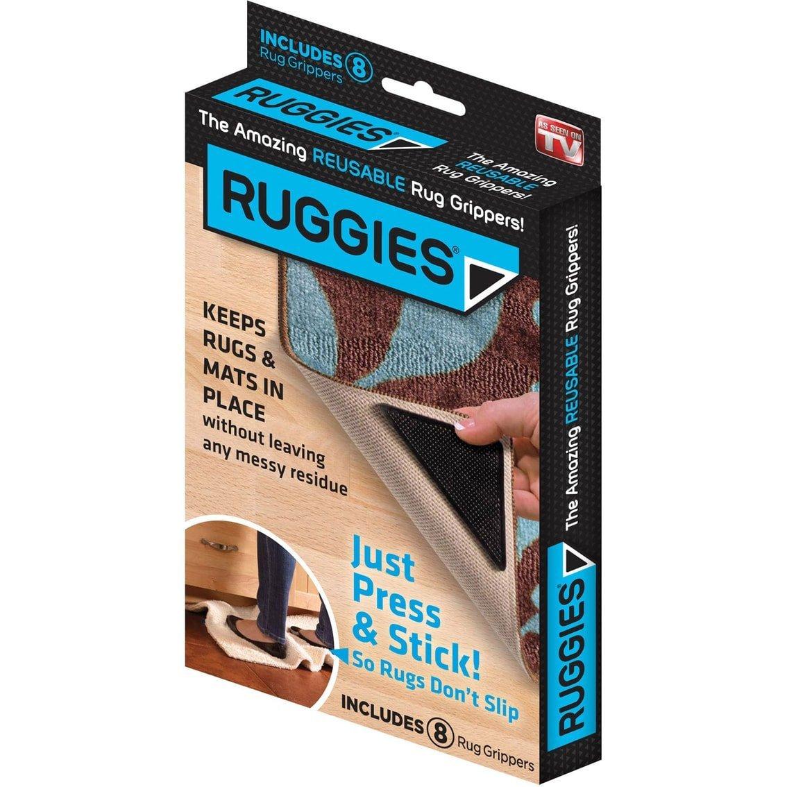 Ruggies Rug Grippers Reusable Rug Corners
