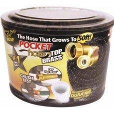 pocket hose top brass