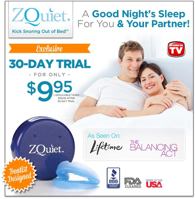 zquiet as seen on tv - anti-snoring mouthpiece