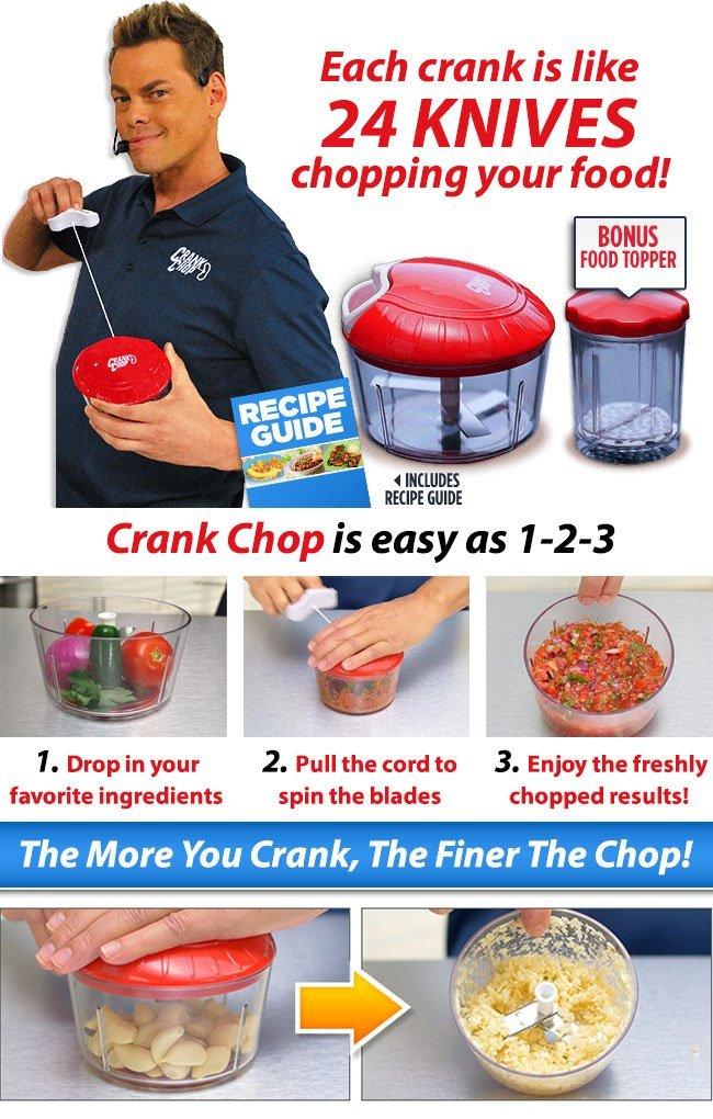 crank chop food chopper