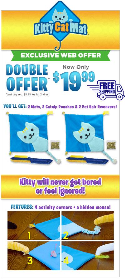kitty cat mat
