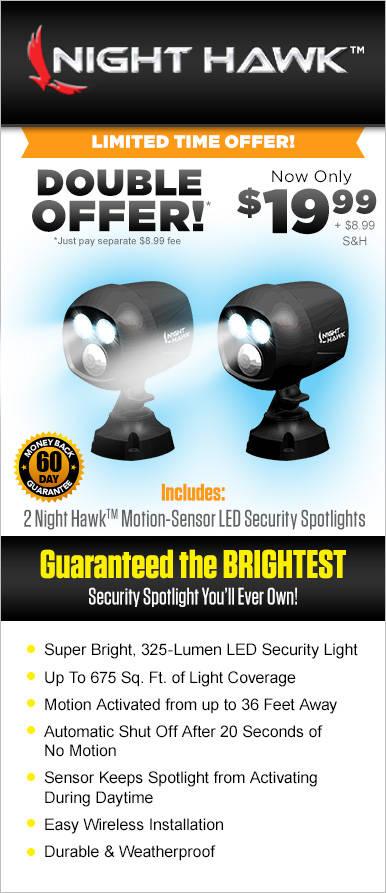 Night Hawk Motion Sensor Security